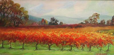 Late Harvest Napa Vineyards Art Print by Deirdre Shibano