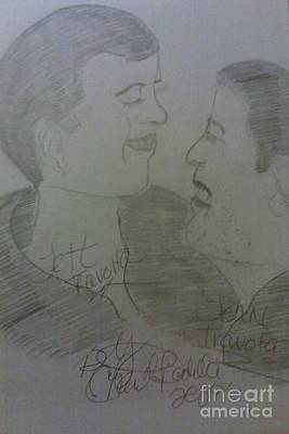Late Jett And John Travolta  Art Print