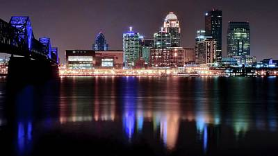 Photograph - Late Late Night In Louisville by Frozen in Time Fine Art Photography