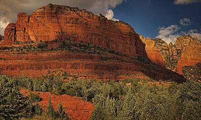 Photograph - Late Light At Brin's Mesa Text Pano by Theo O'Connor