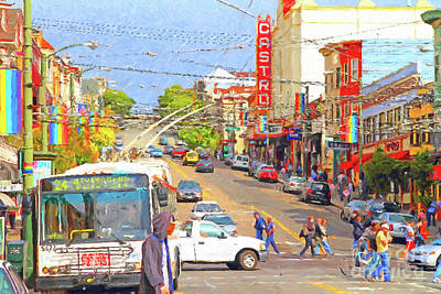 Photograph - Late Morning Early Autumn In The Castro In San Francisco by San Francisco Art and Photography