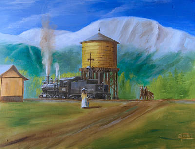 Train Crossing Painting - Late Morning In June by Christopher Jenkins