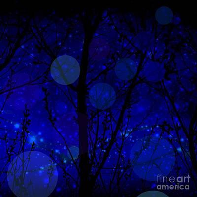 Digital Art - Late Night Fairy Flight by Diamante Lavendar