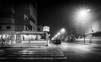 Photograph - Late Night Restaurant. by Gary Gillette