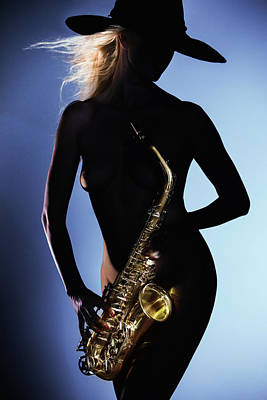 Photograph - Late Night Sax by Dario Infini
