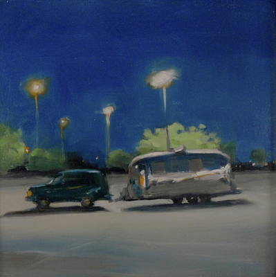 Airstream Trailer Painting - Late Night Shopping by Elizabeth Jose