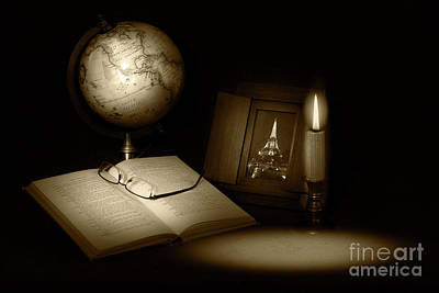 Photograph - Late Night Studying by Cecil Fuselier