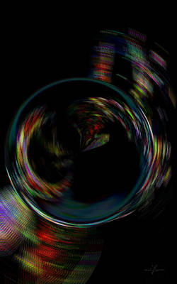 Digital Art - Late Night Tea Time Glow Abstract by Maciek Froncisz