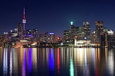 Toronto Maple Leafs Photograph - Late Night Toronto Lights by Frozen in Time Fine Art Photography