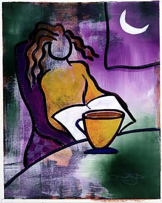Digital Art - Late Night With Java Lady by Lucas Boyd