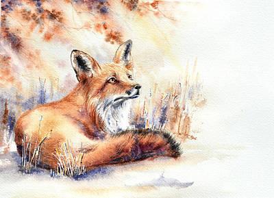 Painting - Late October by Angelina Ligomina