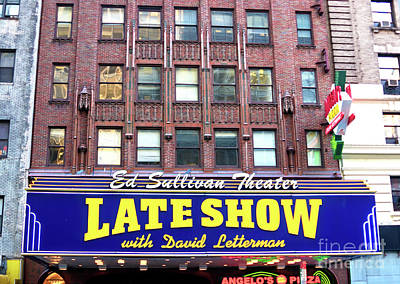 Photograph - Late Show With David Letterman by John Rizzuto