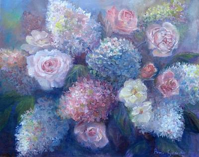 Painting - Late Summer Bouquet by Bonnie Goedecke