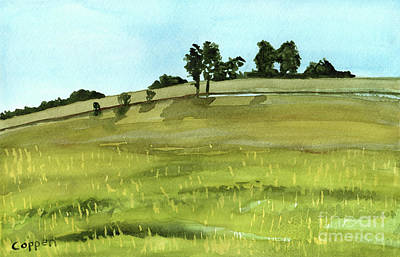 Oneida Painting - Late Summer Field From The Susquehanna And Western by Robert Coppen