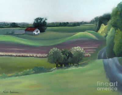 Gambrills Painting - Late Summer Fields by Linda Anderson