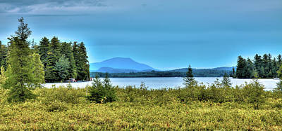 Landscapes Royalty-Free and Rights-Managed Images - Late Summer on Raquette Lake by David Patterson