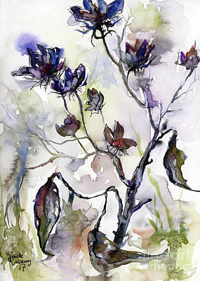 Painting - Late Summer Seed Pods by Ginette Callaway