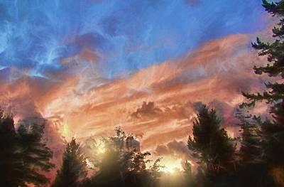 Photograph - Late Summer Sunset by Kathy Bassett