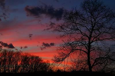 Photograph - Late Sundown by Kathryn Meyer