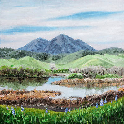 State Natural Area Painting - Late Winter In California by Masha Batkova