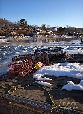 Photograph - Late Winter Morning, New Harbor, Bristol, Maine  -81425 by John Bald