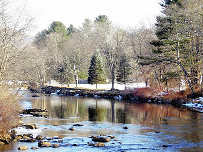 Photograph - Late Winter Scene On The Ashuelot River by MTBobbins Photography