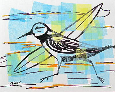 Sandpiper Mixed Media - Later by Jill Torres