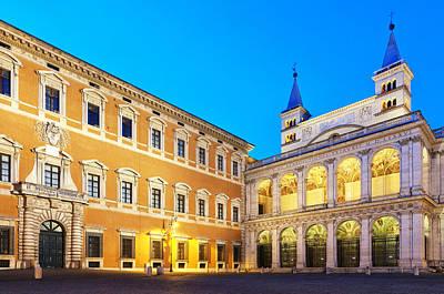 Photograph - Palazzo Laterano And The Loggia Delle Benedizioni by Fabrizio Troiani