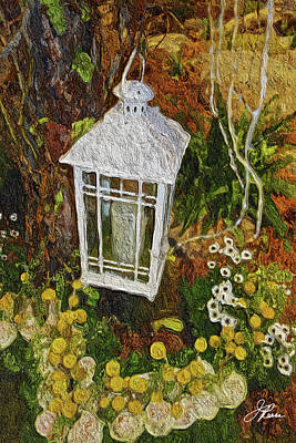 Painting - Latern With Flowers by Joan Reese