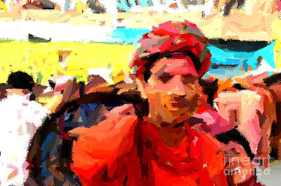 Painting - Lathmaar Holi Of Barsana-1 by Anil Sharma