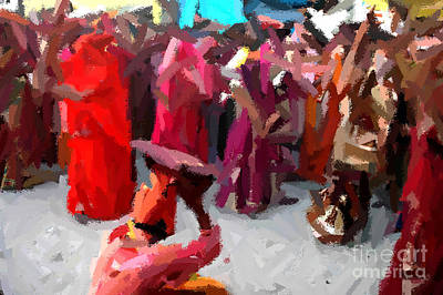 Painting - Lathmaar Holi Of Barsana-2 by Anil Sharma