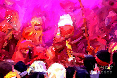 Painting - Lathmaar Holi Of Barsana-3 by Anil Sharma