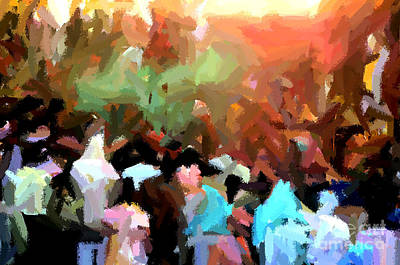 Painting - Lathmaar Holi Of Barsana-4 by Anil Sharma