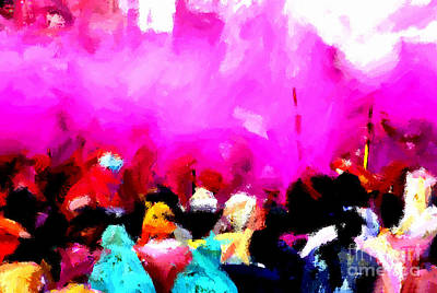 Painting - Lathmaar Holi Of Barsana-5 by Anil Sharma