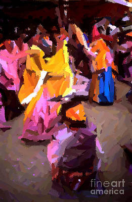 Painting - Lathmaar Holi Of Barsana-6 by Anil Sharma