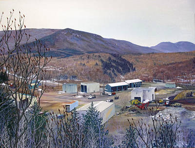 Rural Decay Painting - Lathrop Lumber Mill by Mark Benton