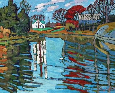 Thousand Islands Painting - Latimer Bend by Phil Chadwick