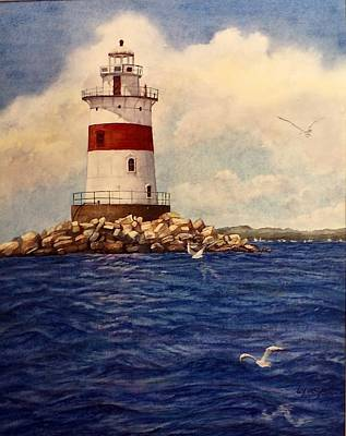 Lighthouse Painting - Latimer Reef Light by Lizbeth McGee