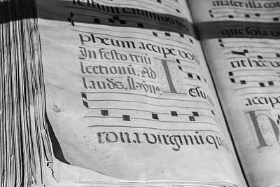 Photograph - Latin Religious Text by Steven Greenbaum
