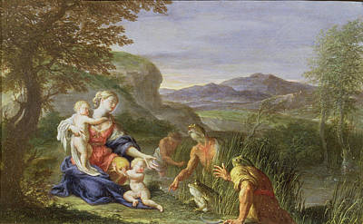 Anthropomorphic Painting - Latona And The Frogs by Francesco Trevisani