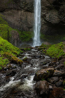 Photograph - Latourell Falls by Harry Spitz