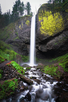 Photograph - Latourell Falls In Oregon by James Udall