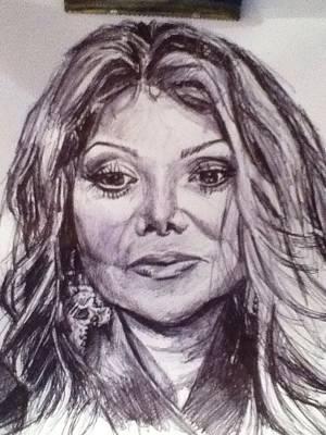 Michaeljackson Drawing - Latoya Jackson by Billy Jackson