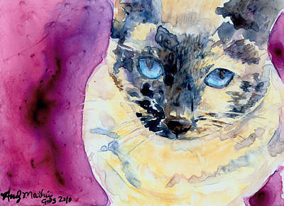 Tortie Painting - Latte by Andy  Mathis