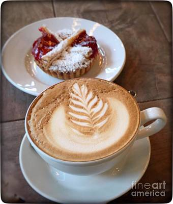 Photograph - Latte With Berry Tart by Susan Garren