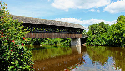 Photograph - Lattice Covered Bridge by Debbie Oppermann