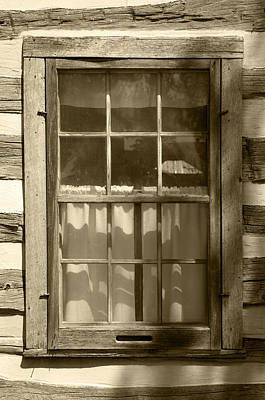 Log Cabin Art Photograph - Lattice Window On Log Cabin by Donald  Erickson