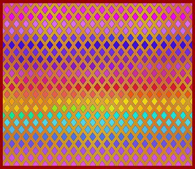 Digital Art - Latticed Rainbow by Vagabond Folk Art - Virginia Vivier