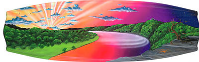Wakeboard Painting - Latx by Patrick Houston
