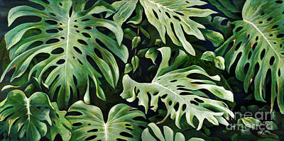 Philodendron Painting - Lau-nahele by Sandra Blazel - Printscapes